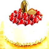洋菓子店カサミンゴー 最高級洋菓子 シュス木苺 レアチーズケーキ (誕生日プレートセット, 12cm)
