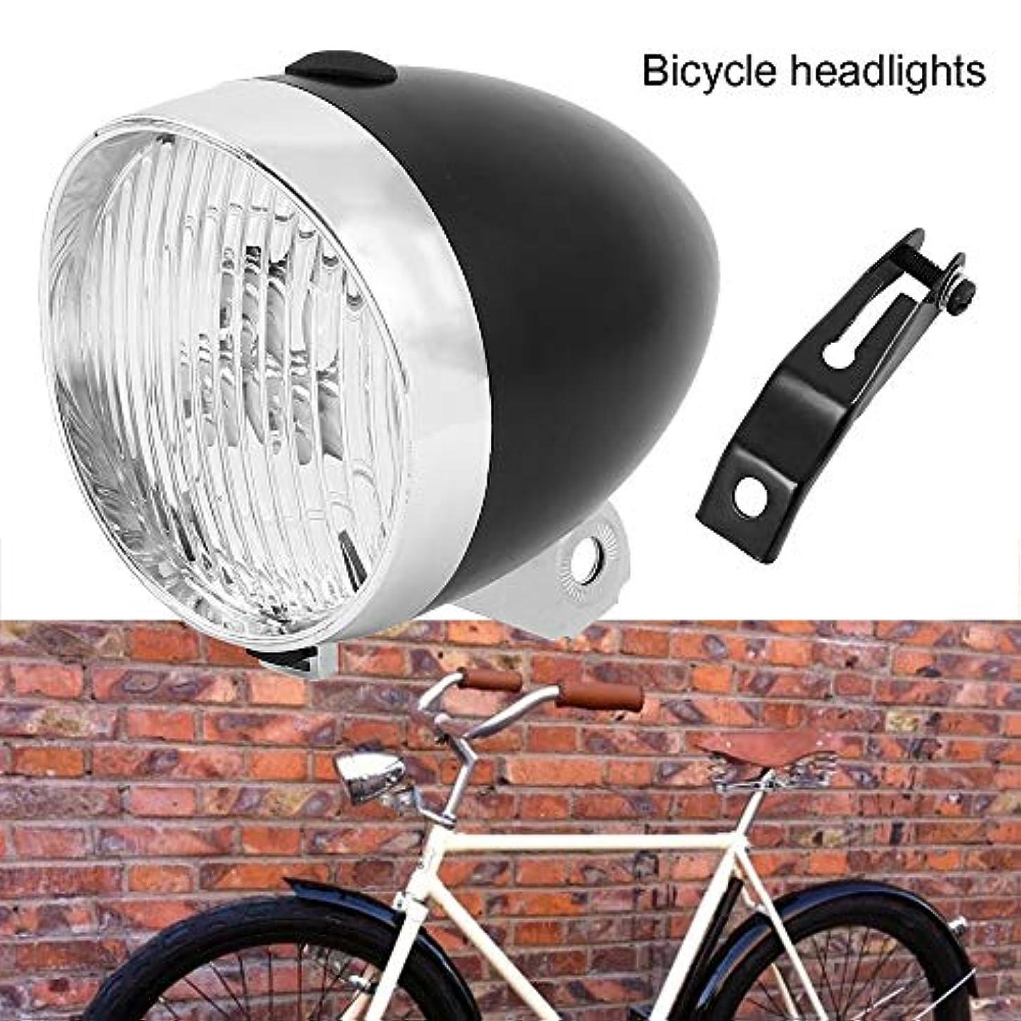 ピクニックをするアプローチ水っぽいFantasyRe自転車ライト LEDヘッドライト 自転車 ヘッドライト フロントライト LED 3灯 電池式 配線不要 明るい おしゃれ かっこいい レトロ 砲弾型 自転車ヘッド 簡単 取付 校園風 欧州風
