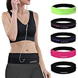 GEARWEAR Waist Running Belt for iPhone 8 X 7 Plus Phone Holder Women Men Travel Money Waistband for Samsung Galaxy Fits Up to 6 Inch Wallking Fitness Jogging Run