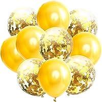 Linannau 12インチ透明ラテックスローズゴールド紙風船ゴールデンローズレッド紙吹雪スパンコール風船誕生日パーティーの装飾。 (Color : A011)
