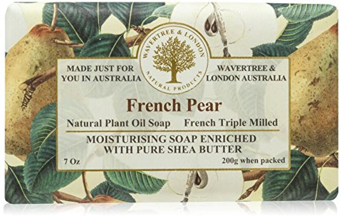 有名人色合い小道具Bela プレミアム包まれた固形石鹸、フランス語梨、200グラム 1バー