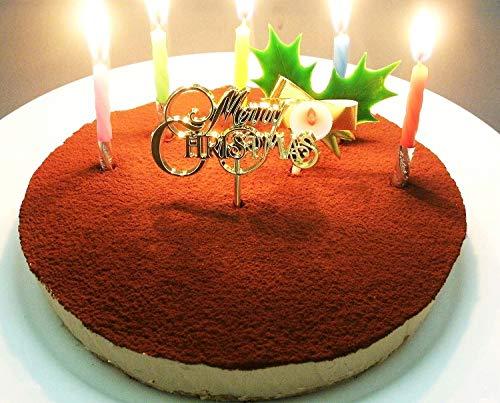 クリスマスケーキ 糖質75%カット 低糖質 生チョコレア チーズケーキ 5号(ローソク・Xmasプレート・柊ピック・カード付)(糖質制限 チョコレートケーキ 砂糖不使用 スイーツ クリスマス ケーキ)
