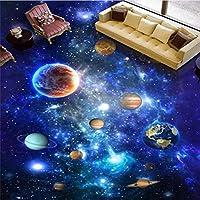 Ljjlm 3Dホームデコレーション3Dの壁紙宇宙ギャラクシースカイ3Dの床の壁紙リビングルームの天井3Dの壁紙-120X100CM