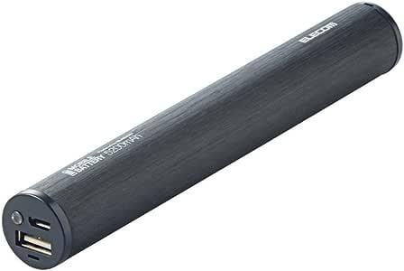 ELECOM モバイルバッテリー リチウムイオン電池 スマートフォン各種対応 5200mAh 【約2回充電可】 ブラック DE-M01L-1910BK