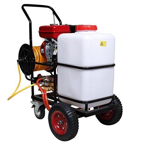 HAIGE エンジン噴霧器 タンクキャリー動噴/動力噴霧器 60Lタンク キャリー付き ピストンポンプ 4サイクル エンジン式 HG-60