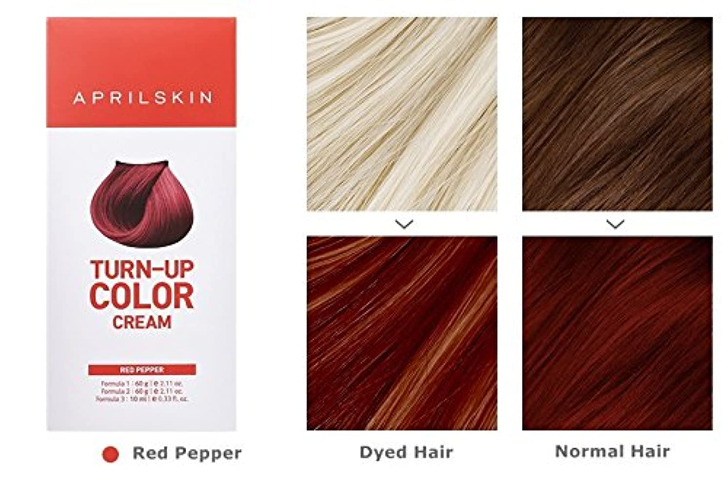 パウダーわがまま過度のApril Skin Turn Up Color Cream Long lasting Texture Type Hair Dye エイプリルスキン ターンアップカラークリーム長持ちテクスチャタイプヘアダイ (紅)
