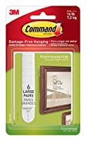 Command Picture & Frame Hanging Strips Large White 6-Strip 4-Pack (24 Pairs Total) [並行輸入品]