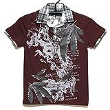 4213-0505/アクセ付レイヤード風半袖Tシャツ 07赤紫 09白 140cm 150cm 160cm SPINASH (140cm, 07赤紫)