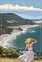 テレジアビーチ、カリフォルニア–Coastシーン 9 x 12 Art Print LANT-52163-9x12