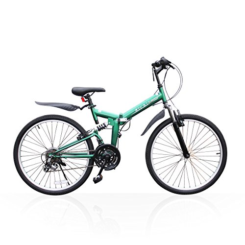 Airbike 折りたたみ自転車 26インチ マウンテンバイク XSP2602 (グリーン)