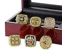 ZNKVJ メンズ 6年 スーパーボウル ピッツバーグ スティーラーズ チャンピオンシップセット リング