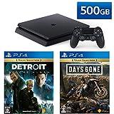 PlayStation 4 + Detroit: Become Human + Days Gone セット (ジェット・ブラック) (CUH-2200AB01)【特典】オリジナルカスタムテーマ(配信)