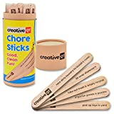 Creative QT Chore Sticks - Make It A Game For Your Kids To Help Out Around The House - A Fun Alternative To a Chore Chart That Will Keep Them Coming Back For More - Good, Clean Fun