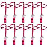 BESTOYARD 10ピース面白い笛ネックレス付きフェザー独身パーティープラスチック笛ナイトホイッスル大人の面白いおもちゃパーティー用品(バラ色)
