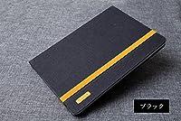 iPad ケース 9.7インチ 手帳型 レザー 2017 アイパッド 衝撃吸収 スタンド機能 キャンパス調 手帳型カバー プロテクター ブックカバー おすすめ おしゃれ タブレットケース IPAD2017-A30-T70411-3 (ブラック)