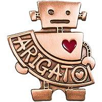 ココロボット【ARIGATO♥ピンバッジ】(銅色メッキ/プラケース入り)