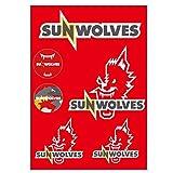 SUNWOLVES(サンウルブズ) オフィシャル ウォールステッカー SWWST001