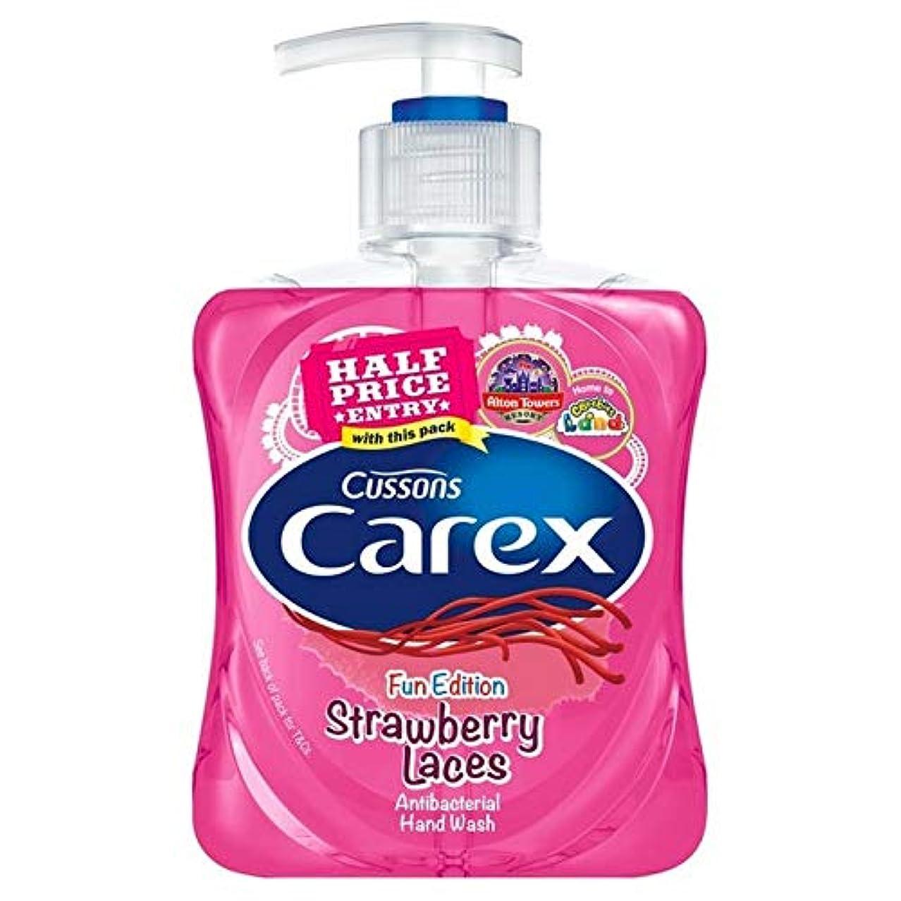 紫の指導するけがをする[Carex ] スゲ子供イチゴレースの手洗いの250ミリリットル - Carex Kids Strawberry Laces Handwash 250ml [並行輸入品]