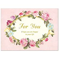 多目的カード バースデーカード ローズ For You G250-311 CHIKYU GREETINGS ラメ加工を使った二つ折りカード Birthday Card グリーティングカード お誕生お祝い メール便可 (ZR)
