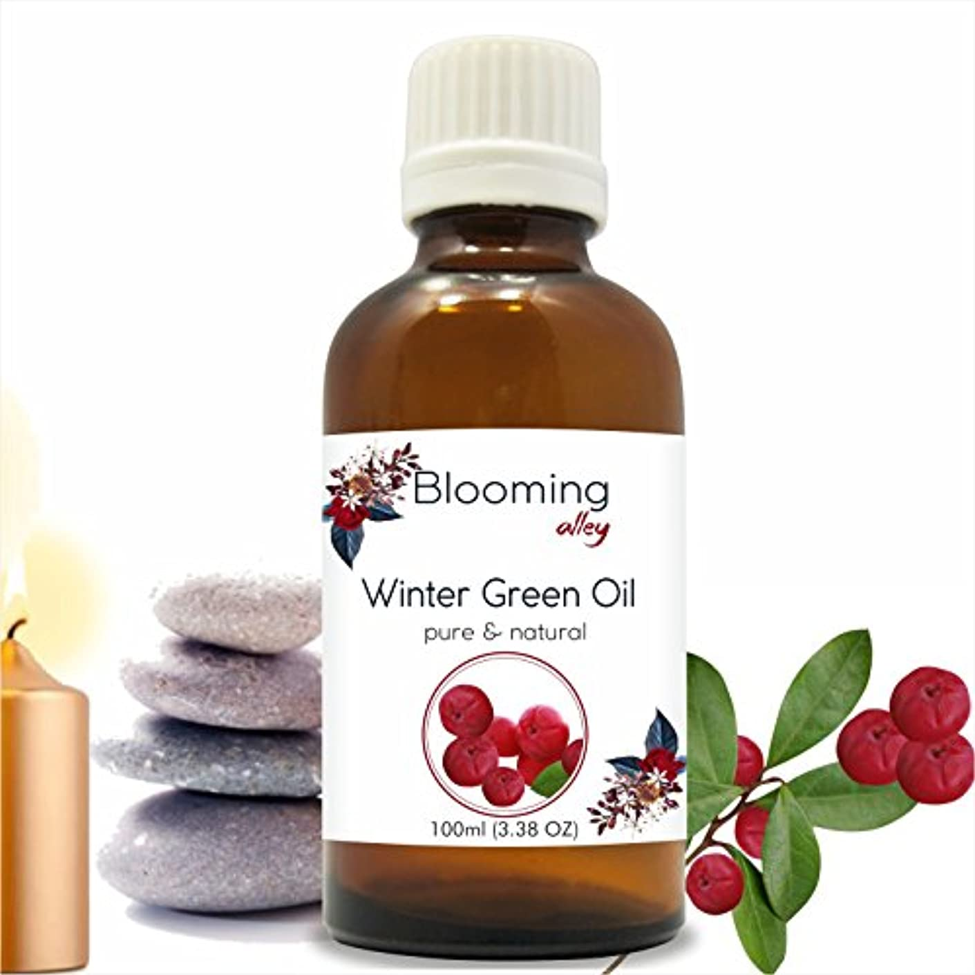 お風呂を持っている新年他の日Wintergreen Oil(Gaultheria Procumbens) Essential Oil 100 ml or 3.38 Fl Oz by Blooming Alley