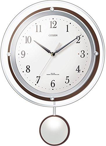 シチズン 電波 振り子 掛け時計 アナログ パルミューズスイング 白 CITIZEN 8MX401-003