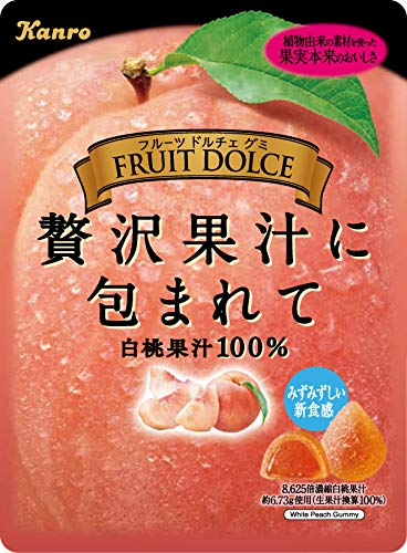 フルーツドルチェグミ 白桃 6袋