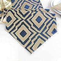 テーブルランナー高密度サテン装飾タッセル小さな吊りボール現代のミニマリストテーブルフラグ (Color : Blue, Size : 30*140cm)