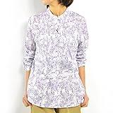 (サラウェア) Sarah Wear リバティプリント ピンタックヨークブラウス D52404 014.ホワイト サイズ2