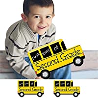 2nd Grade - FIRST and LAST Day of School Bus Signs - Back To School Photo Prop [並行輸入品]