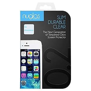 nuglas 液晶保護ガラスフィルム iPhoneSE/5/5s/5c用日本産強化ガラス0.2mm