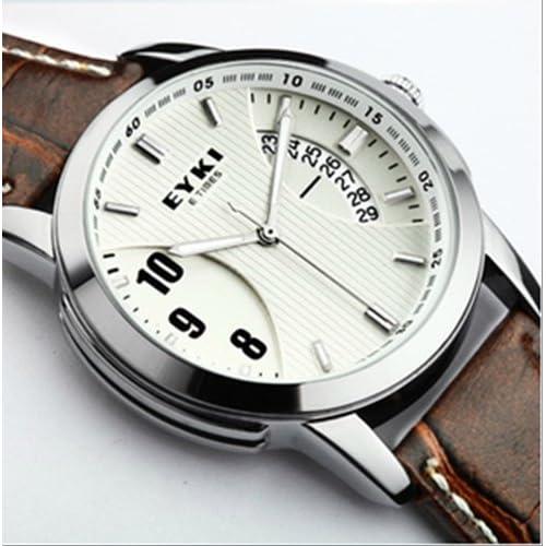 EYKI 腕時計/防水 カレンダー機能 メンズ レディース カジュアル ウォッチ スポーツ (メンズ ブラウン)