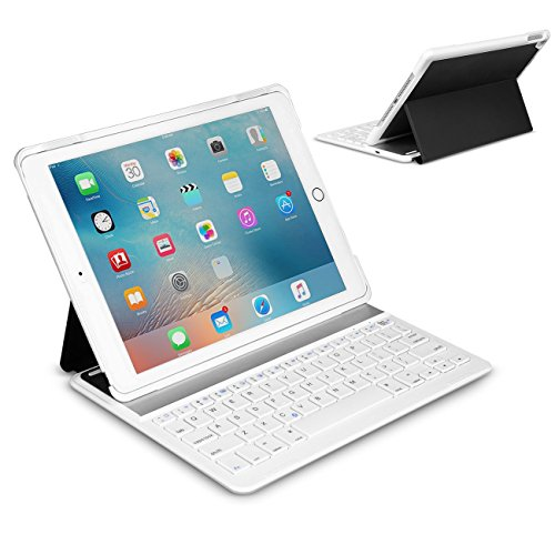 Inateck iPad Air 2/ iPad Pro 9.7インチ キーボードカバー ブラックアンドホワイト