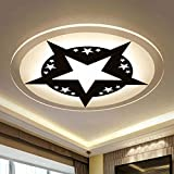 超薄型ベッドルームランプラウンド天井ライトシンプルな現代子供部屋照明ファッション漫画スターリビングルームランプ直径20CM / 40CM ( Size : Diameter 40CM )