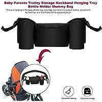baynne Baby Stroller Organizer、深いカップホルダー、特大サイズストレージスペースfor iPhone、ウォレット、おむつ、本、玩具、iPads、ベビーシャワーの完璧なギフト!