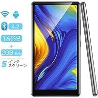 Androidシステム MP4プレーヤー AGPTEK タブレット MP4プレイヤー Wi-Fiモデル 5インチHDディスプレイ MP3プレーヤー Bluetooth4.2搭載 デジタルオーディオプレーヤー 2G+16G type-c端子 フルタッチスクリーン 電子書籍リーダー