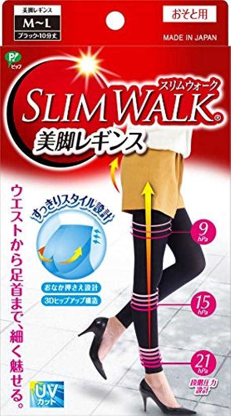 配分中性魅力スリムウォーク 美脚レギンス M-Lサイズ ブラック(SLIM WALK,leggings,ML) 着圧 レギンス