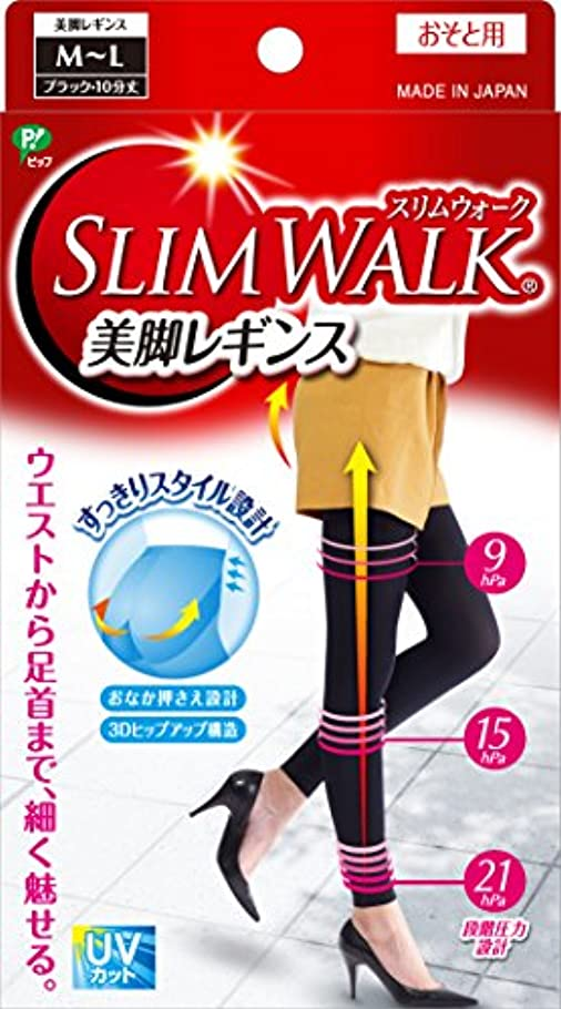 間違いグループコインスリムウォーク 美脚レギンス M-Lサイズ ブラック(SLIM WALK,leggings,ML) 着圧 レギンス