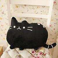 フワフワ 柔らか かわいい ネコ クッション 抱き枕 オフィス用にも ブラック