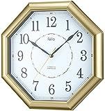 Felio(フェリオ) 電波壁掛け時計 明王 アナログ表示 ゴールド FEW178GD