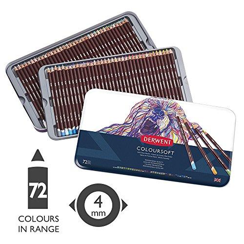 ダーウェント カラーソフト色鉛筆 72色セット