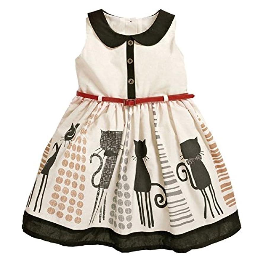 線形アベニューボウリング【ノーブランド 品】幼児 子供 女の子 夏 服 サンドレス プリンセスドレス チュチュスカート 全5サイズ  - 110cm