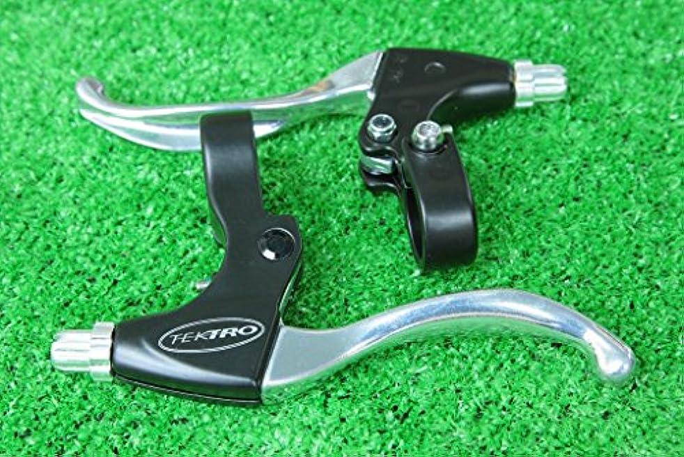 送金人間成功テクトロ(TEKTRO) アルミ合金 V-ブレーキ ディスクブレーキ用 ブレーキレバー CL331-TS 4フィンガー