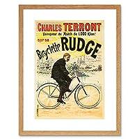 Ad Rudge Bicycles Cycling Star Terront Wheel UK France Framed Wall Art Print 自転車星イギリスフランス壁