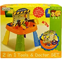 DimpleChild 2 in 1 Tools & Doctor Play Set DC4797 [並行輸入品]