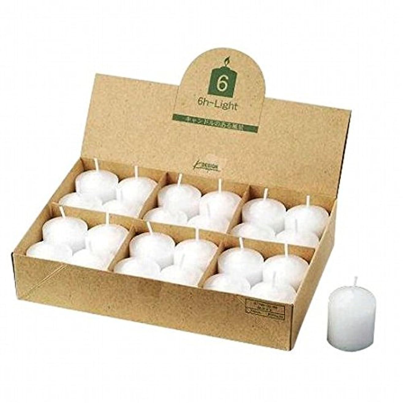 滴下幾何学市民kameyama candle(カメヤマキャンドル) 6Hライト(6時間タイプ)24個入り(日本製)(77960099)