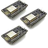HiLetgo 3pcs ESP8266 NodeMCU LUA CP2102 ESP-12E Internet WiFi Development Board Open Source Serial Wireless Module Works Great with Arduino IDE/Micropython (Pack of 3PCS)