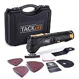TACKLIFE 電気マルチツール DC12V 研磨&切断&剥がし 充電式 1500mAh 6段変速 豊かな付属品 電池残量表示 LEDライト コンパクト ケース付 PMT01B