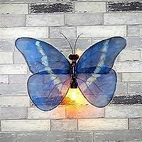 JJZXSGH ウォールライト®ヴィンテージ産業壁ライト壁ランプ壁取り付け用燭台寝室ベッドサイド廊下バーカフェレストラン階段蝶錬鉄水パイプ壁ランプ