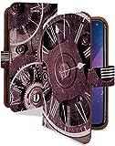 スマートフォンジュニア2 SH-03F ケース 手帳型 クロック パープル スチームパンク スマホケース スマホジュニア2 forジュニア 手帳 カバー スマホ ジュニア sh03f sh03fケース sh03fカバー 時計 ぜんまい 時計柄 [クロック パープル/t0281a]