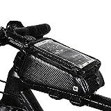 Rhinowalk 自転車 トップチューブバッグ フレームバッグ サドルバッグ フロントバッグ サイド バッグ かんたん装着 防水 サイクリング用 ツイルファブリック